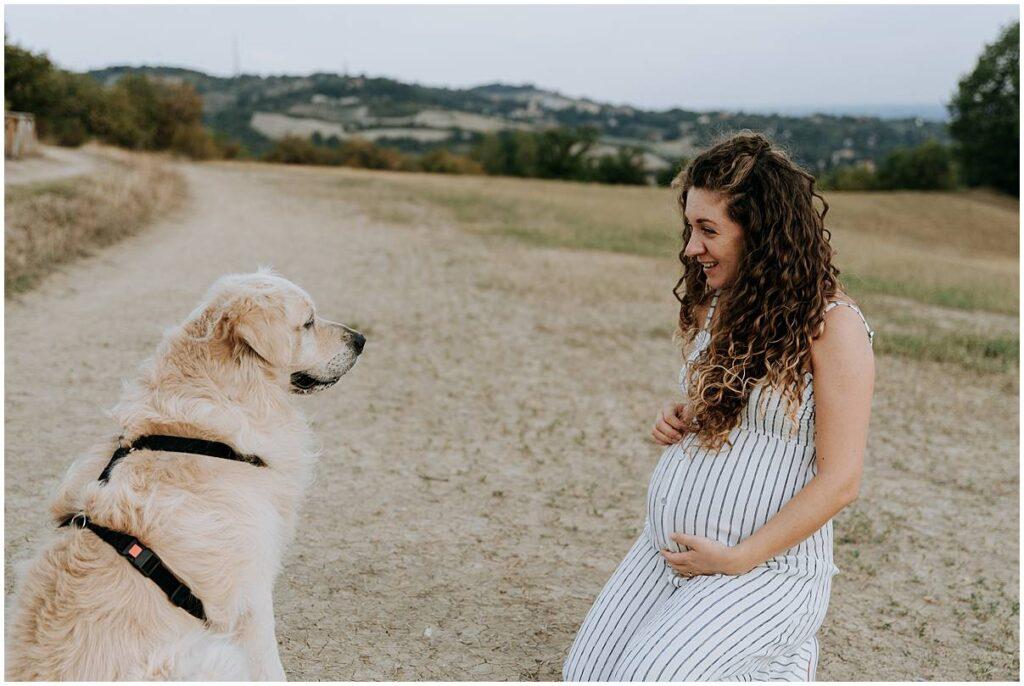servizio fotografico di gravidanza sui colli