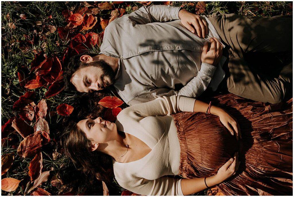 servizio fotografico di gravidanza a villa ghigi